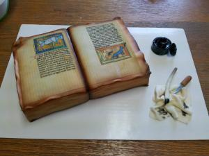 Medieval Manuscript Cake