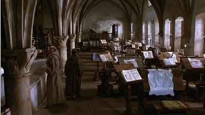 The scriptorium in The Name of the Rose.