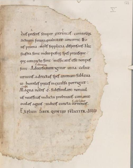 A mouse ate my Boethius! (Cambridge, Corpus Christi College, MS 214, fol. 122r)