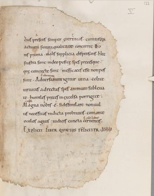 A mouse ate my Boethius! (Cambridge, Corpus Christi College, MS 214, fol. 122r)