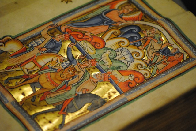 The Leiden Psalter of St Louis, displayed at our February 2013 Lieftinck Lecture. Photo by Julie Somers.