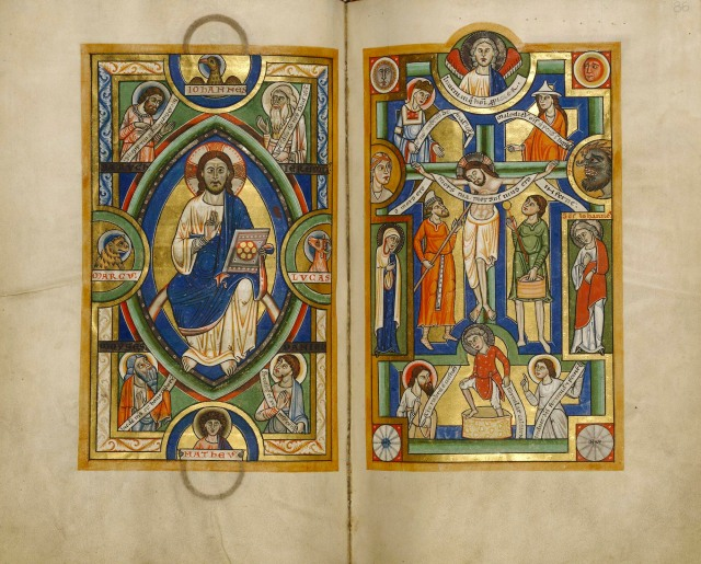 Stammheim Missal, Getty Collection, Los Angeles MS 64, f. 85v-86r