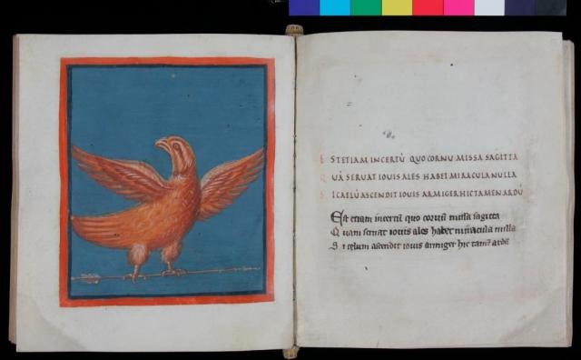 Aquila, f. 54v-55r, with both Carolingian and Gothic hands. From Leiden University's digital facsimile.