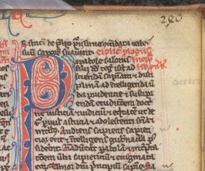 Leaf number used in a Paris Bible (BL, Arundel 311, 13th c)