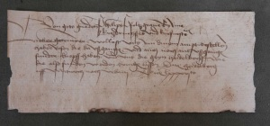 Note from 1461 requesting for wild roses