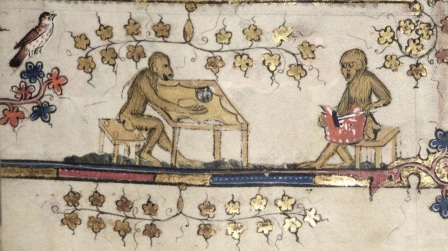 Monkey's making parchment!