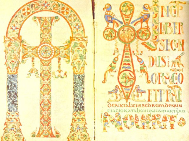 Old Gelasian Sacramentary, probably from Chelles (Bischoff, 1965) or Jouare (McKitterick, 1992.