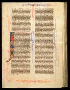Bible Italy, Padua or Venice c. 1260-80 FLP Lewis, E36, f. 126