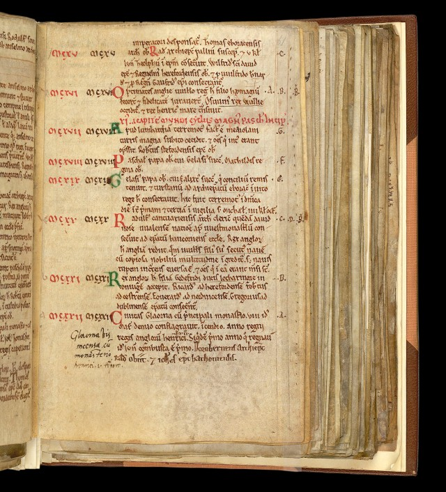 Twelfth-Century Chronicle (Harley 3775 fol. 61)