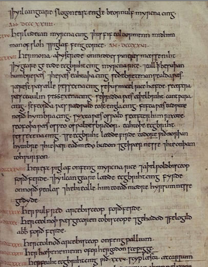an analysis of the topic of the manuscripts of the anglo saxon chronicle The annal-numbers in e generally conform to those found in other manuscripts of  the anglo-saxon chronicle there are, however, a number of errors in the.