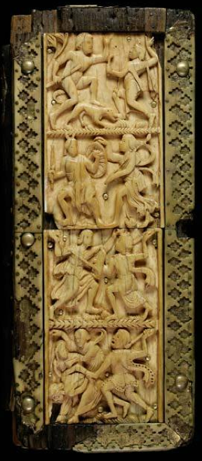 Cod. Sang. 359's ivory front cover, c. 500, Byzantine. Photo © 2013 e-codices.