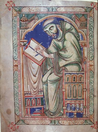 Image of Eadwine, the Scribe Cambridge, Trinity College, R. 17. 1 Christ Church Canterbury, c. 1160