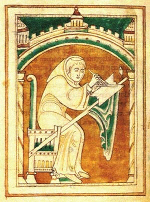 Image of Lawrence of Durham, Durham, University Library. Ms. Cosin V.III. 1. f. 22v.