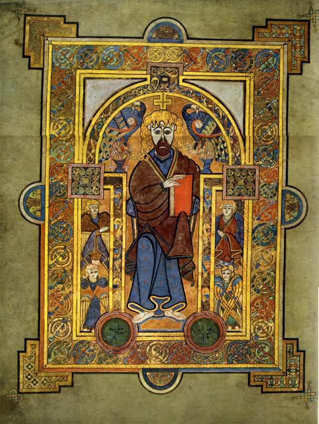 Christ on the throne (Book of Kells)