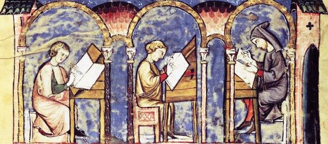 Spanish scriptorium? (Madrid, Biblioteca de San Lorenzo de El Escorial, 14th century).