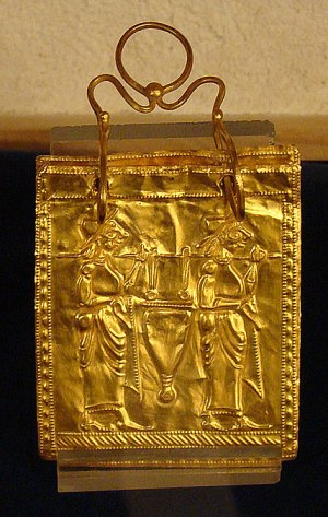 """Old Etruscan """"book"""", made c. 600 BC (Sofia, National History Museum)."""