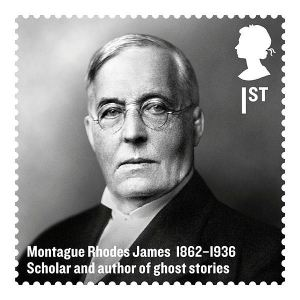 Stamp of M.R. James issued as part of the Royal Mail's 'Britons of Distinction' series (2012)