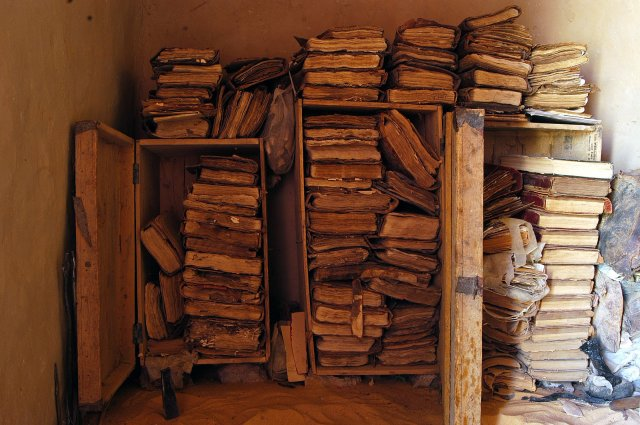A pile of rescued manuscripts. Photo courtesy t160k.org
