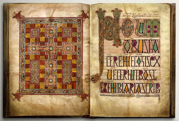 The Lindisfarne Gospels, f.2v-3r.