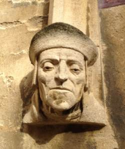 Sculpture of a scholar, Bodleian Library (Pic: my own)