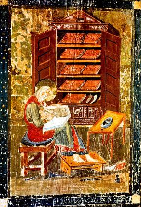 Armarium pictured in the Codex Amiatinus