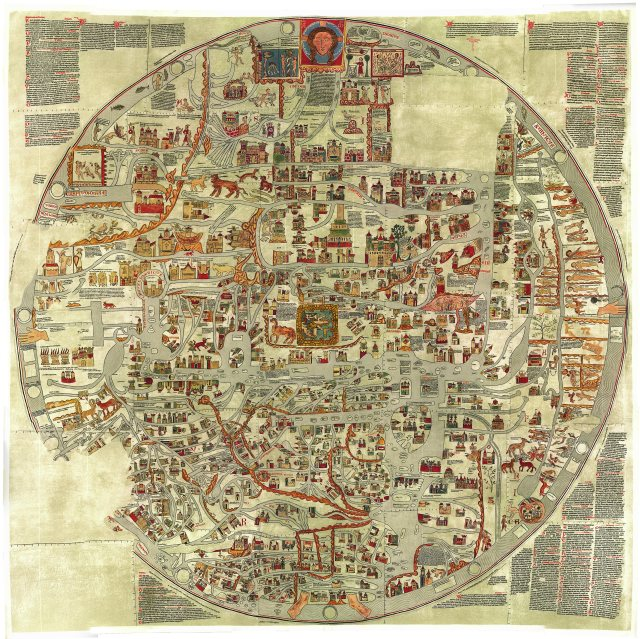 Facsimile of the now-lost Ebstorf Mappa Mundi.
