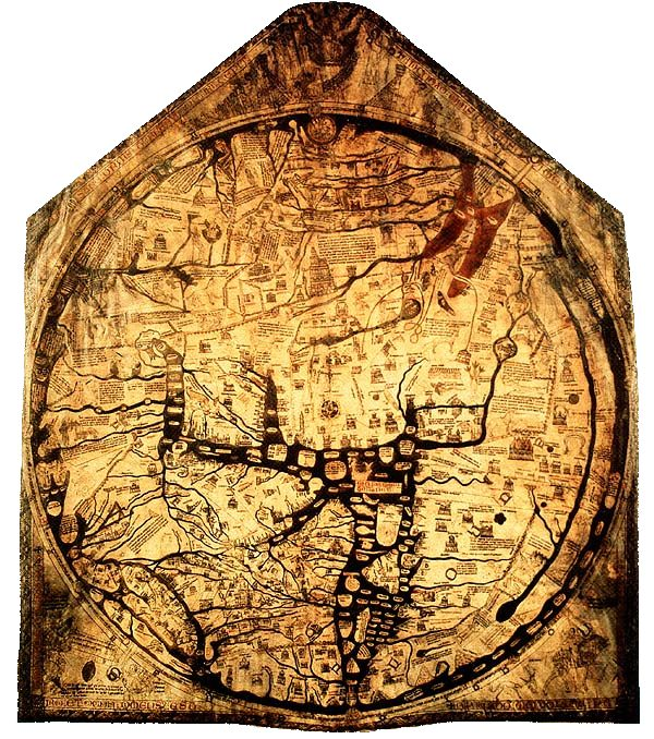 The Hereford Mappa Mundi. Explore it on the official website!