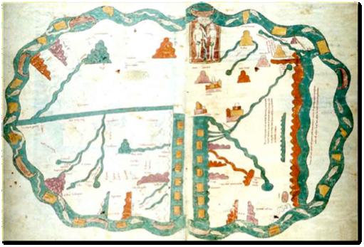Las Huelgas Beatus, Pierpont Morgan Library, M. 429, f. 31v-32r. September 1220. Zoom in closer here.