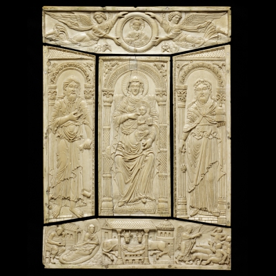 Ivory Front Cover for the Lorsch Gospels, carved in Aachen, c. 810