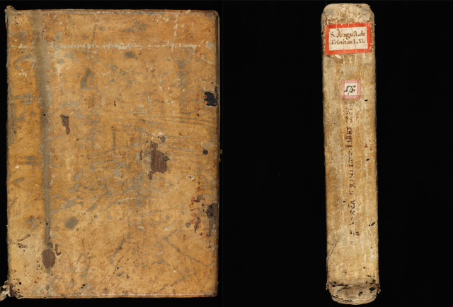 St. Gallen, Stiftsbibliothek, Cod. Sang. 175. 9th century binding, front and spine.