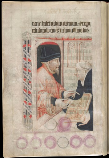 Harley 7026, fol. 4v: Portrait of Lord Lovell