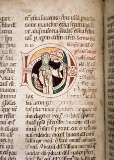 Homilary, Signed Initial German Romanesque ca. 1175 Frankfurt, Stadtbibl. Ms. Barth, 42