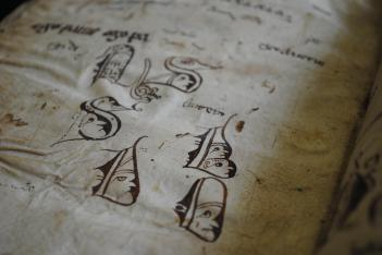 Leiden, Universiteitsbibliotheek, BPL MS 111 I (14th-century doodles)