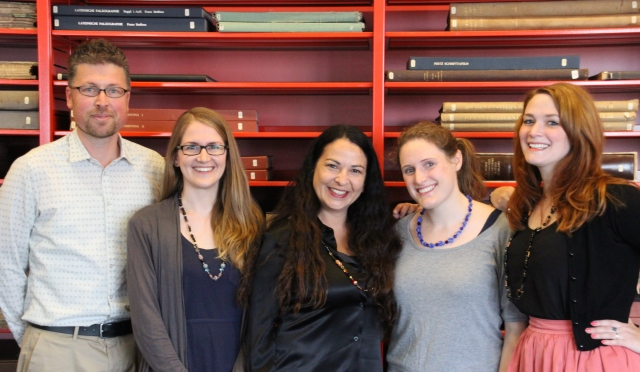 The team: Erik Kwakkel, Jenny Weston, Julie Somers, Irene O'Daly, Jenneka Janzen